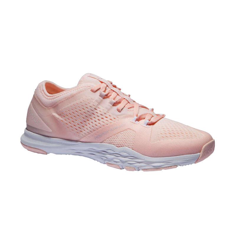 SCARPE FITNESS CARDIO DONNA Fitness - Scarpe donna fitness 900 rosa DOMYOS - Abbigliamento palestra