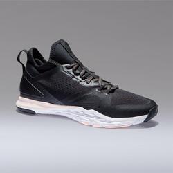 Zapatillas gimnasio Fitness Cardio Domyos 920 mujer negro coral