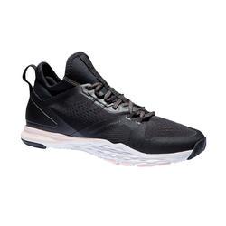 Chaussures fitness cardio-training 920 mid femme noir blanc et rose