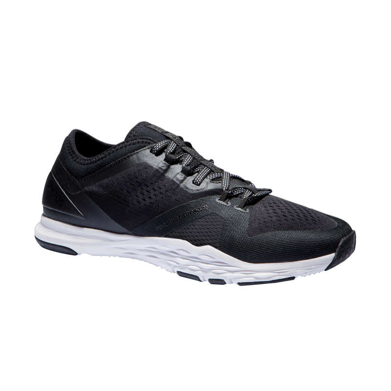 FITNESS SHOES Fitness and Gym - 900 Fitness Shoes - Black DOMYOS - Gym Activewear