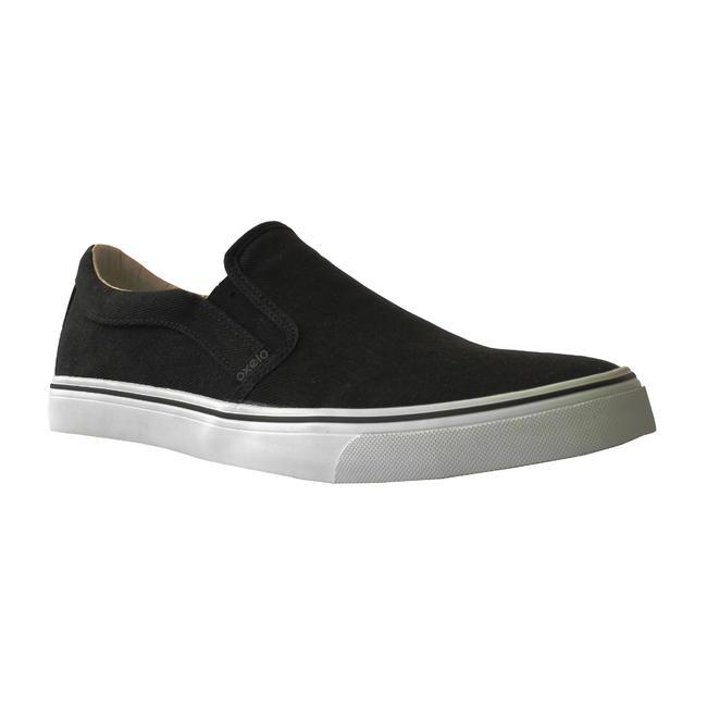 Slipon Skateboarding Canvas Shoe - Black