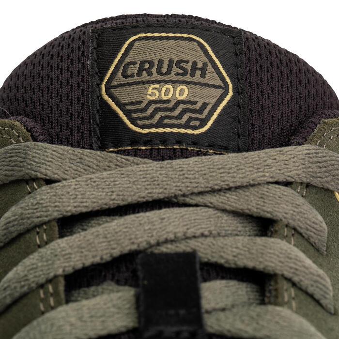 Lage skateschoenen kinderen Crush 500 kaki