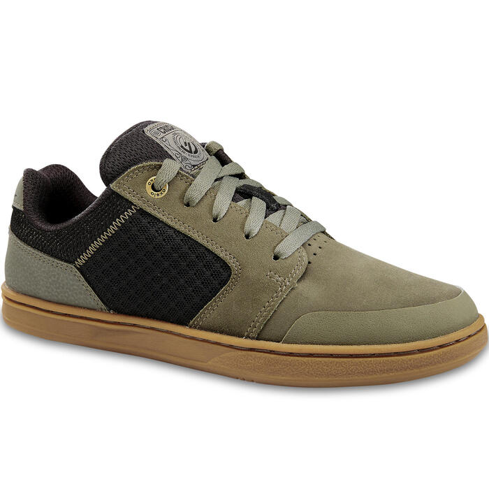 Chaussures basses de skateboard junior CRUSH 500 kaki