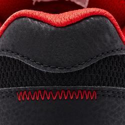 Chaussures basses de skateboard junior CRUSH 500 noire et rouge