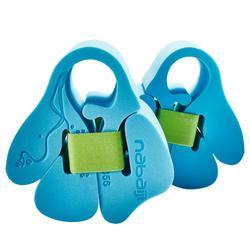Brassards natation en mousse bleu avec sangle élastiquée pour enfant de 15-30kg