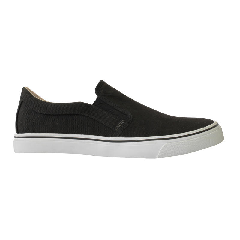Slipon Skateboarding Canvas Shoe - Black