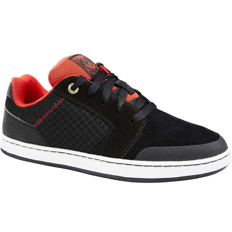 KIDS SKATEBOARD SHOES Skateboarding and Longboarding - Crush 500 Kids' - Black/Red OXELO - Skateboarding and Longboarding