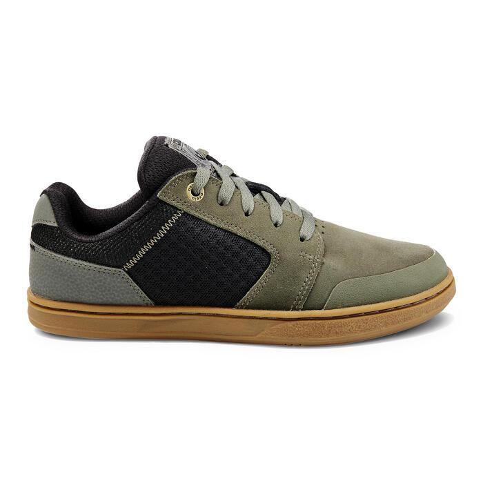 Chaussures basses de skateboard pour enfant CRUSH 500 kaki