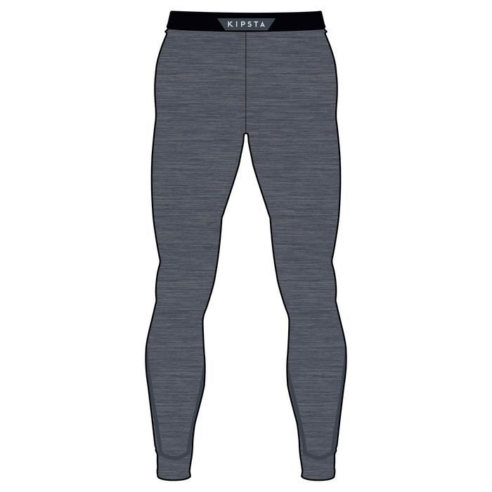 兒童款保暖緊身褲Keepdry 100-灰色