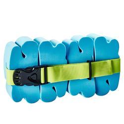 Child's swim belt with blue foam floats