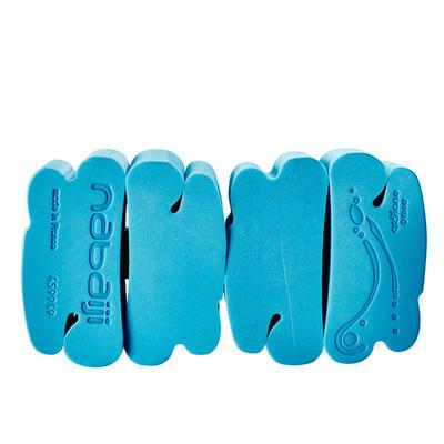 Swim belt for children weighing 15-60 kg with blue foam floats