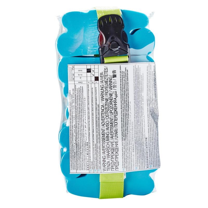 Cinturón de natación niños con paneles de espuma azul