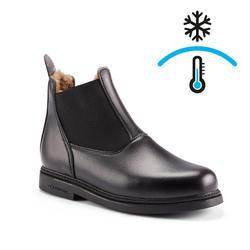 Boots chaudes équitation enfant 160 noir