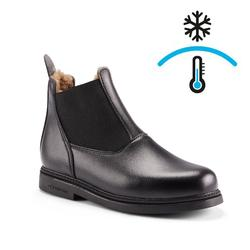 Winter-Reitstiefeletten 160 Warm Kinder schwarz