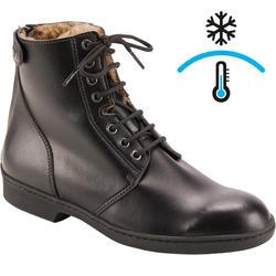 Boots à lacets chaudes équitation adulte 500 noir