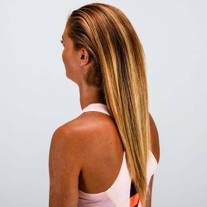 Élastique cheveux fitness cardio-training femme rose et transparent