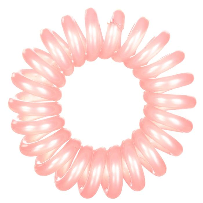 Haarelastiek fitness cardiotraining dames roze en doorschijnend