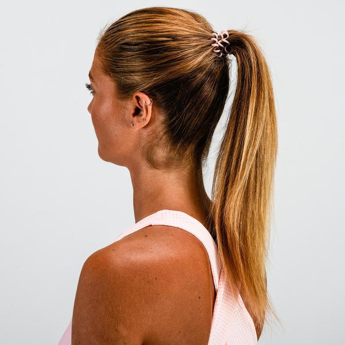 Haargummi Fitness Ausdauer Damen rosa und transparent