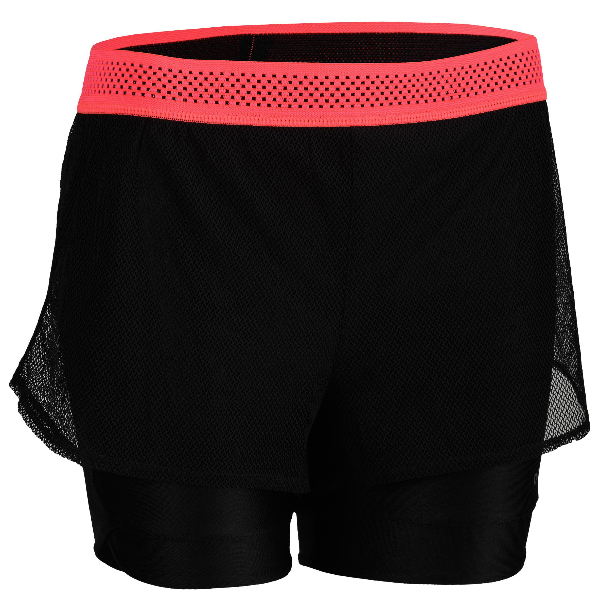 Short cardio fitness mujer negro 520