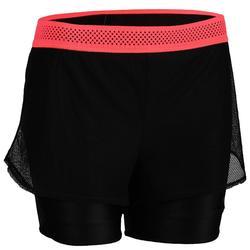 Pantalón Short Cardio Fitness Domyos 520 mujer negro