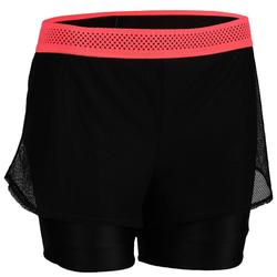 Short fitness cardio training femme noir 520