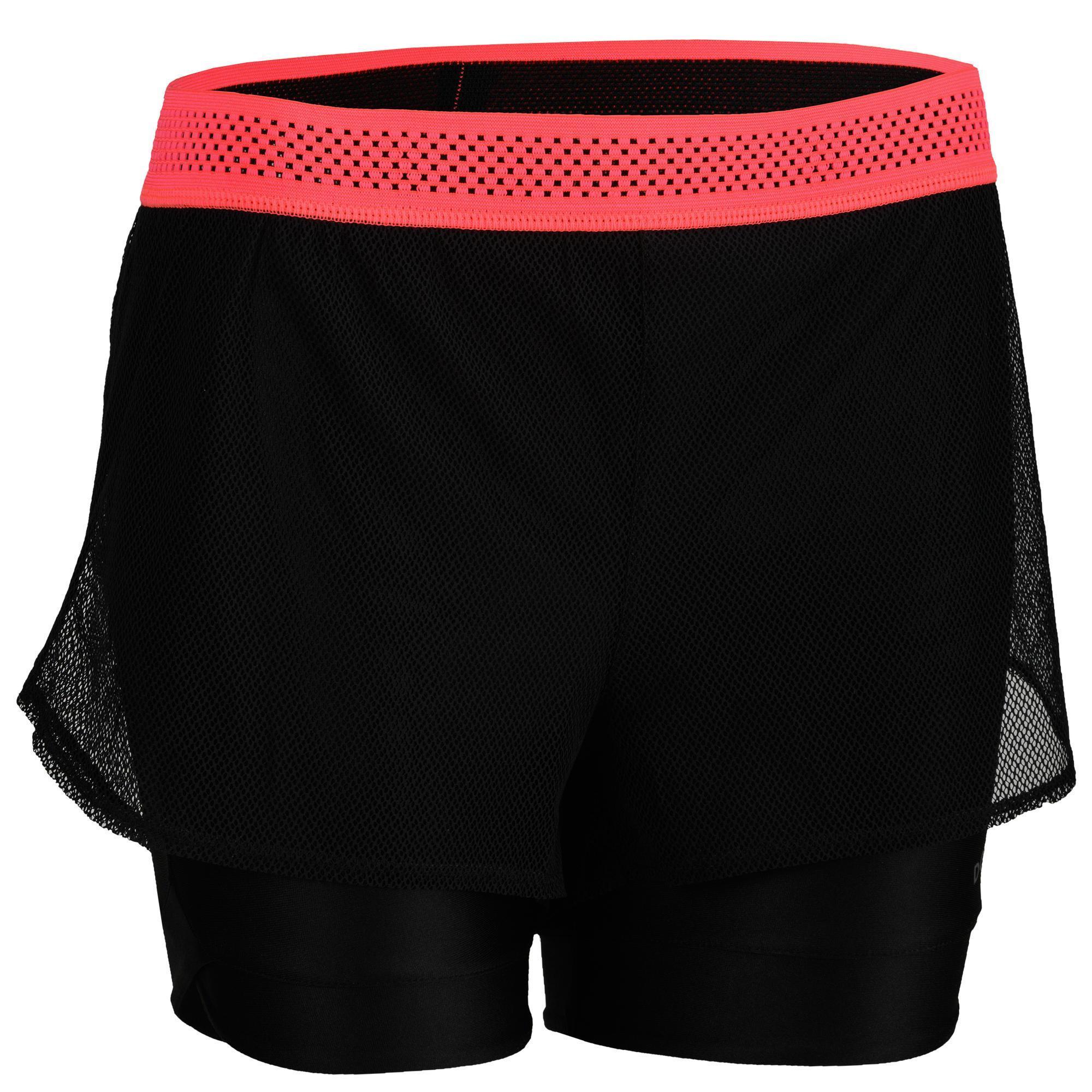 Domyos Sportbroekje fitness 520 voor dames kopen? Leest dit eerst: Fitness kleding Fitness short met korting