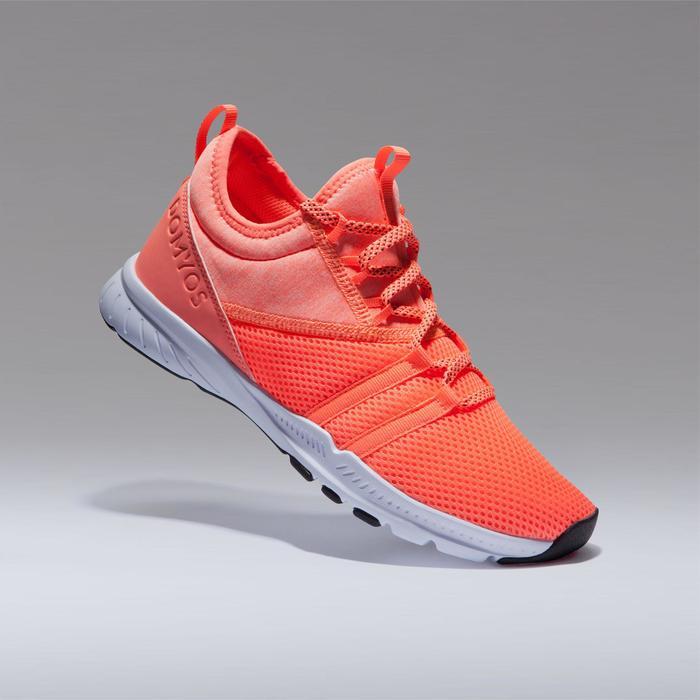 Sportschuhe Fitness Cardio 120 Mid Damen koralle