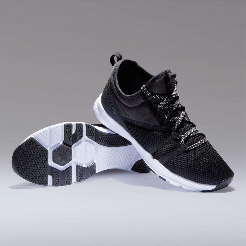 Chaussures fitness cardio-training 120 mid femme noir