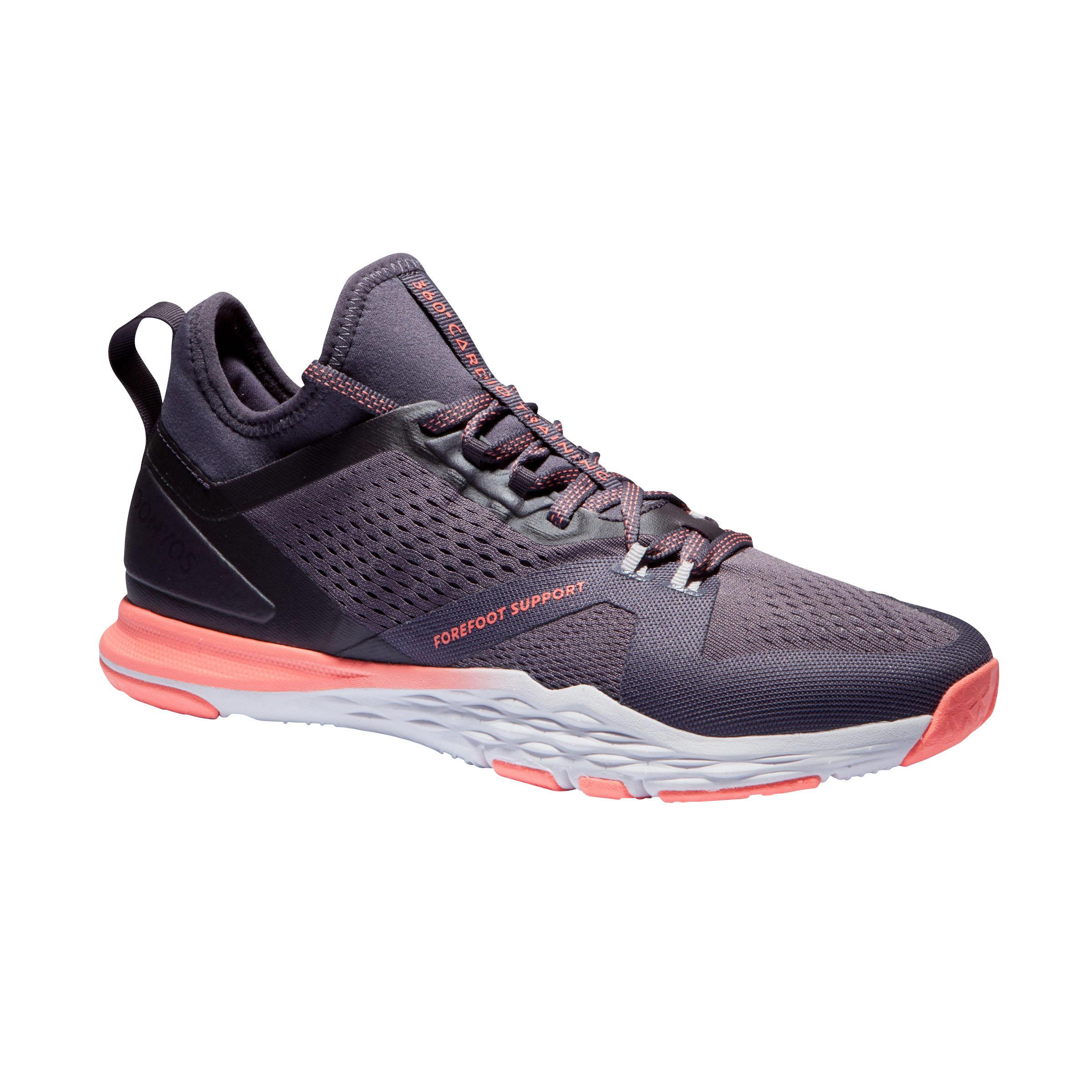 Fitnessschuhe Fitness Cardio 920 violett | Schuhe > Sportschuhe > Fitnessschuhe | Violett - Rot - Rosa | Polyurethan | Domyos