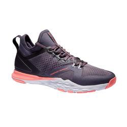 Schoenen voor cardiofitness 920 mid dames paars/grijs