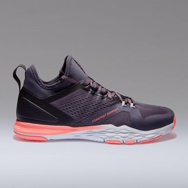 618310f9ed794 Zapatillas fitness cardio-training 920 mid mujer violeta gris ...