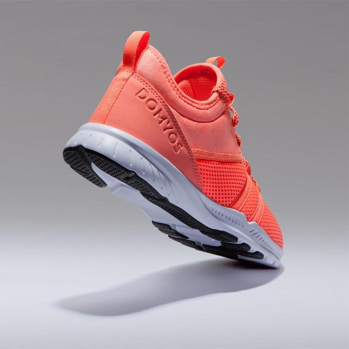 Zapatillas fitness cardio-training 120 mid mujer naranja