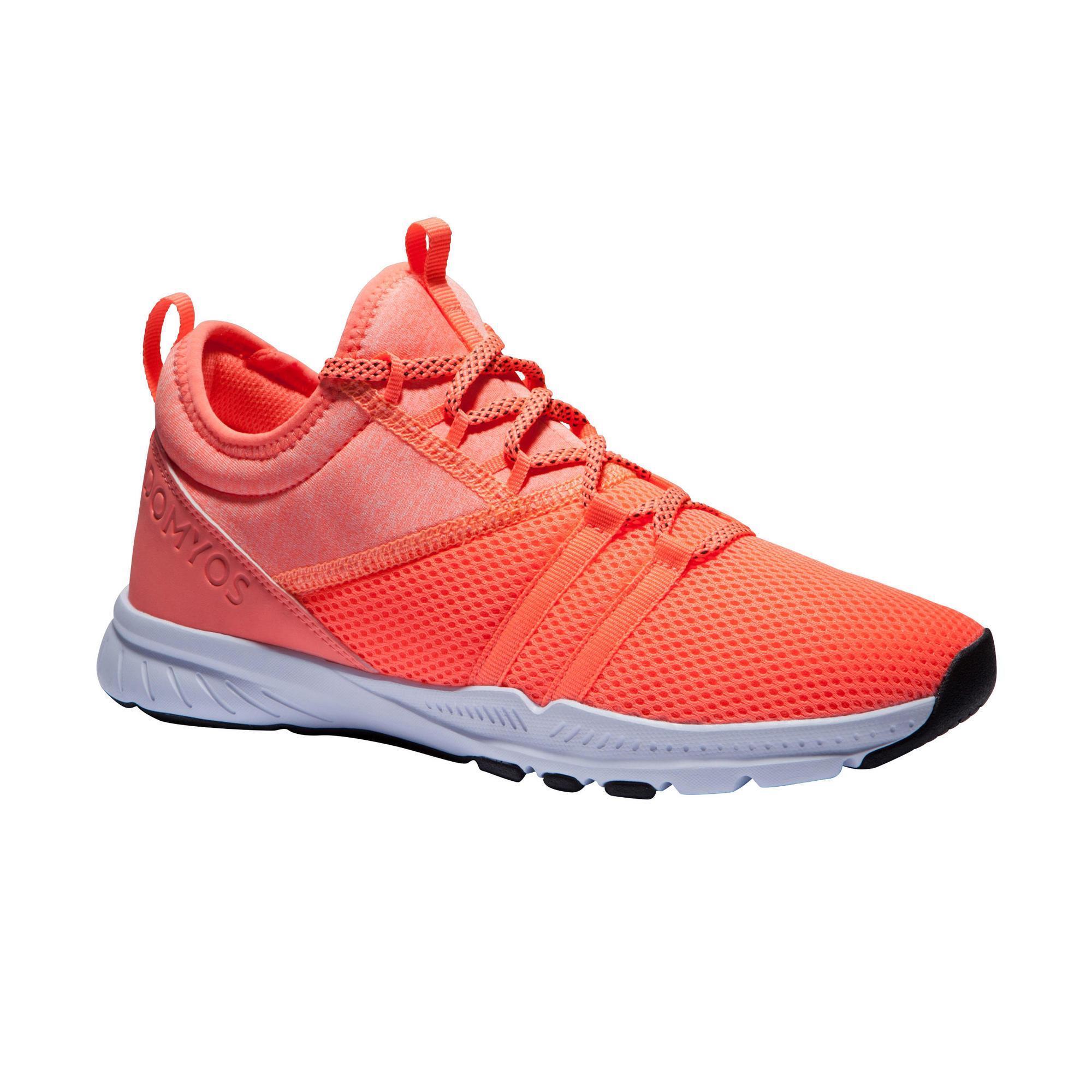 Fitnessschuhe Fitness Cardio 120 Mid Damen koralle | Schuhe > Sportschuhe > Fitnessschuhe | Rot - Rosa | Domyos