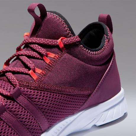d67a7f34168a Chaussures fitness cardio-training 120 mid femme bordeaux. Previous. Next