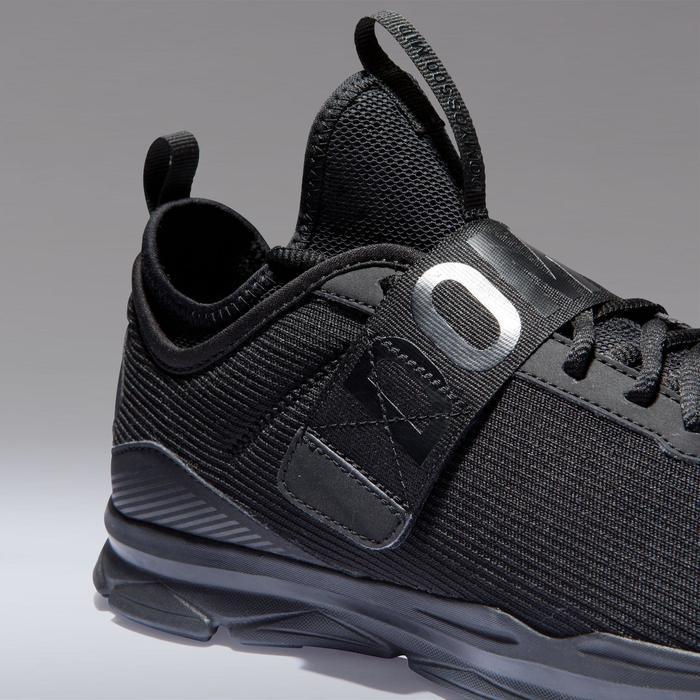 Chaussures cardio fitness training femme 500 mid noir