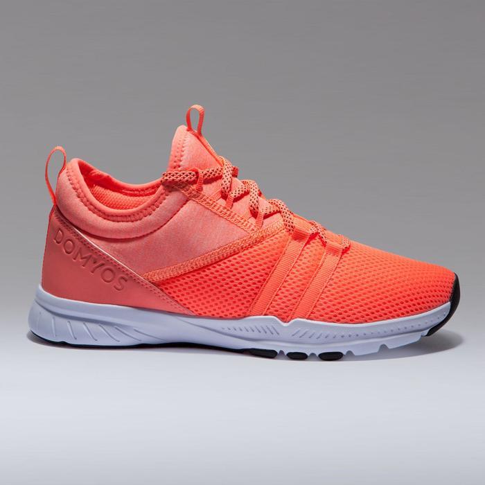 Cardiofitness schoenen 120 mid voor dames oranje