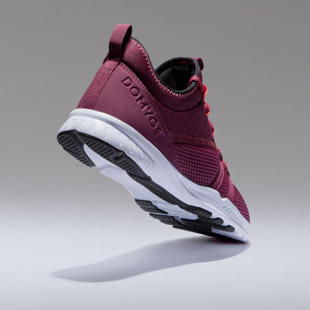 Chaussures de fitness 120 mid femme bordeaux
