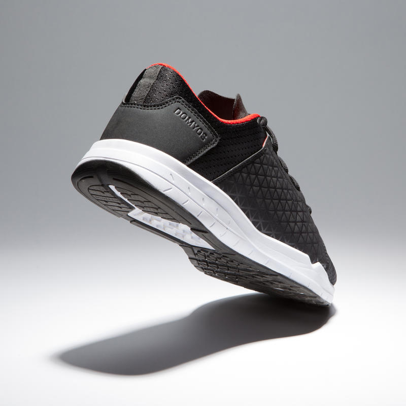 Men's Regular Gym/Cardio Training Fitness Shoes - Black/Red