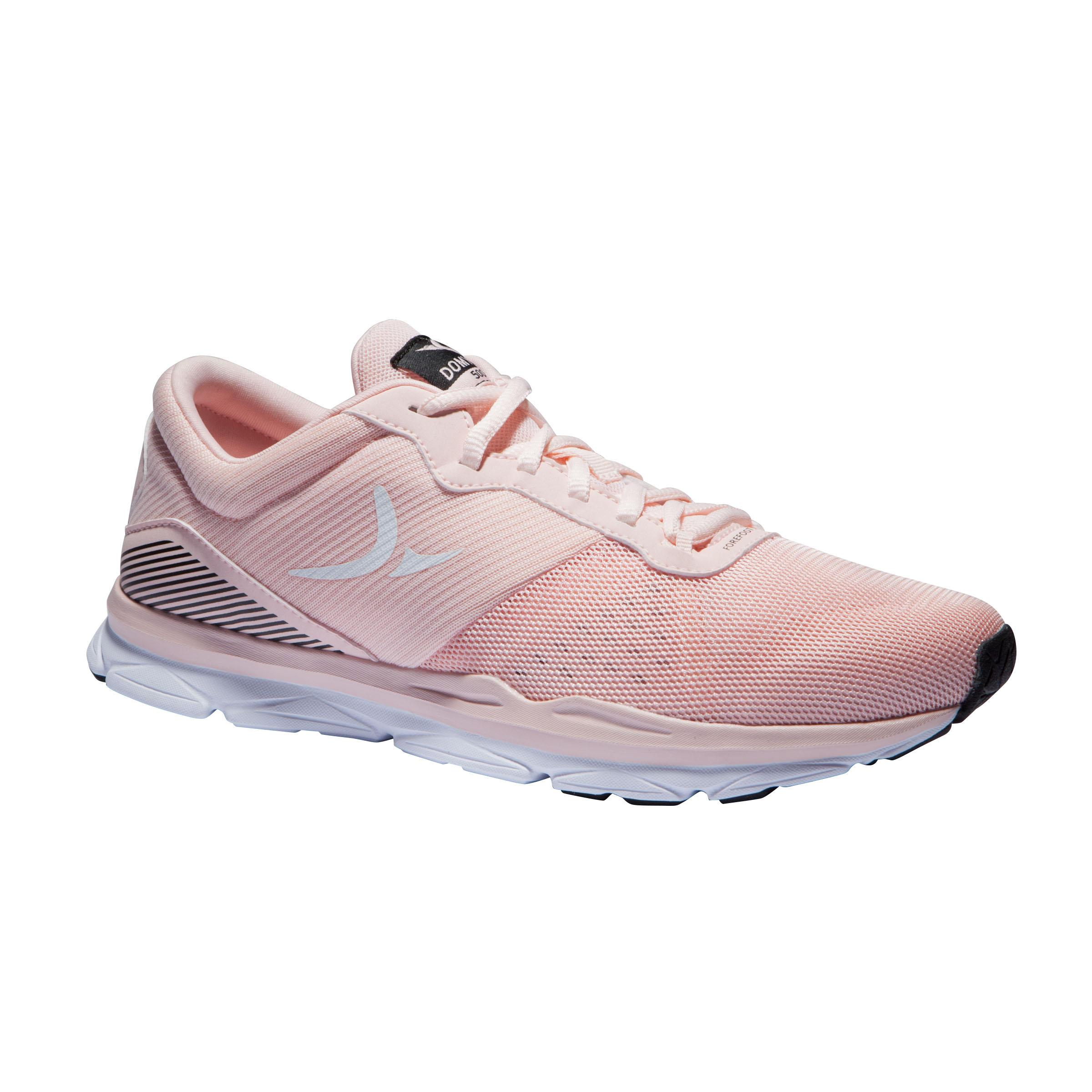 Fitnessschuhe 500 Fitness Cardio Damen rosa | Schuhe > Sportschuhe | Rosa - Weiß | Domyos