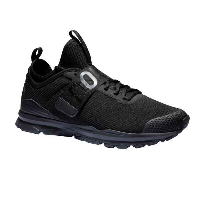 Fitnessschoenen Cardio 500 mid voor dames zwart