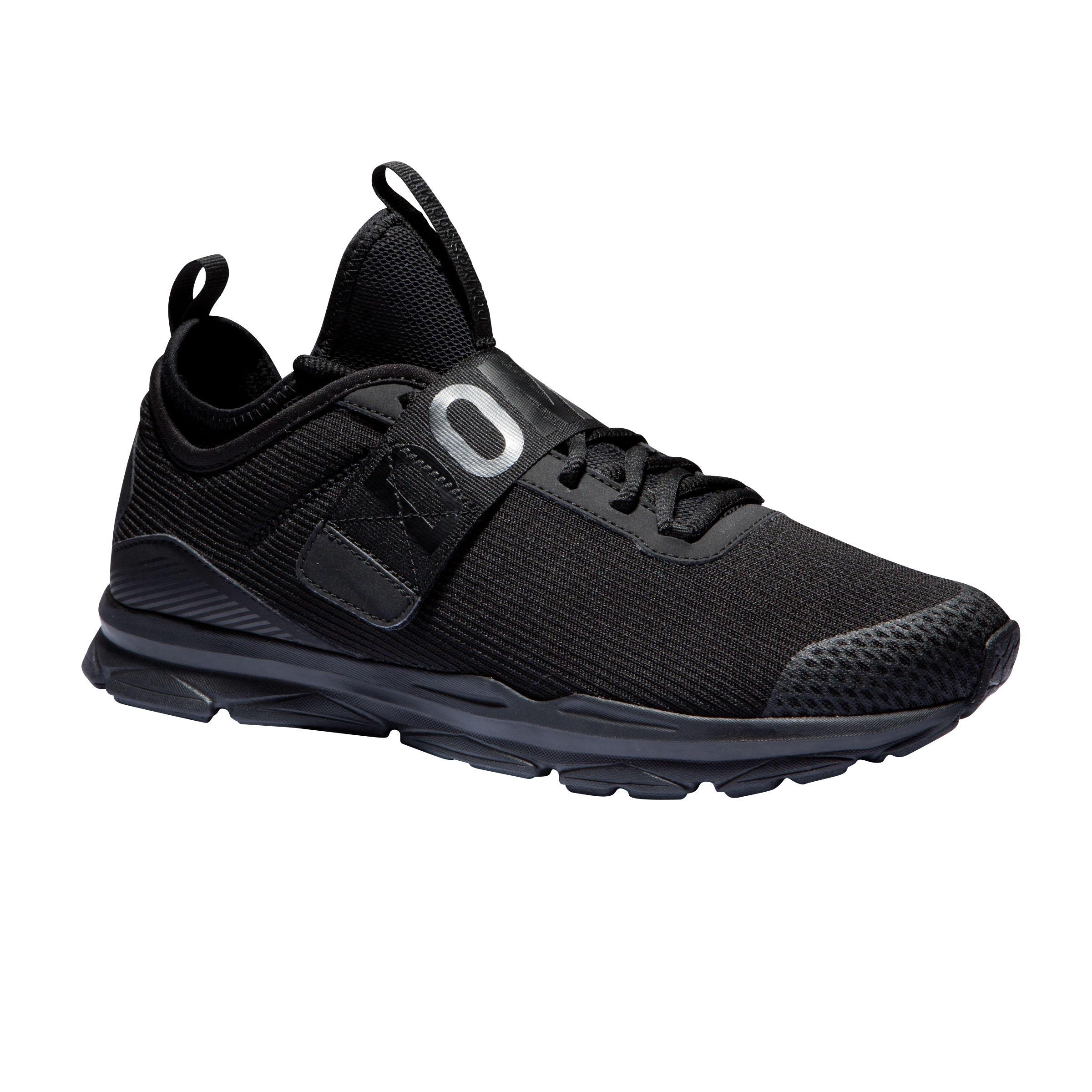 Fitnessschuhe 500 Mid Fitness Cardio Damen schwarz | Schuhe > Sportschuhe > Fitnessschuhe | Domyos