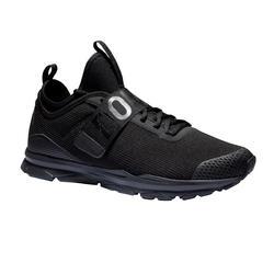 Zapatillas fitness cardio-training 500 mid mujer negro