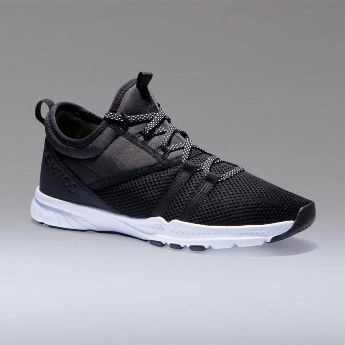 Fitness schoenen cardiotraining 120 voor dames, zwart