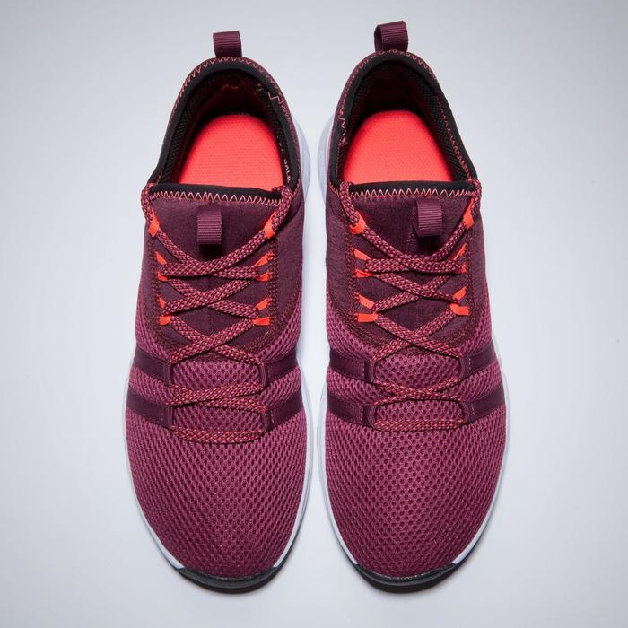 Zapatillas fitness cardio-training 120 mid mujer burdeos