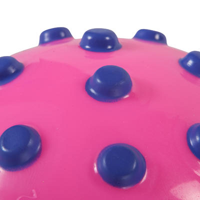 Petit ballon d'éveil aquatique rose et picots violets