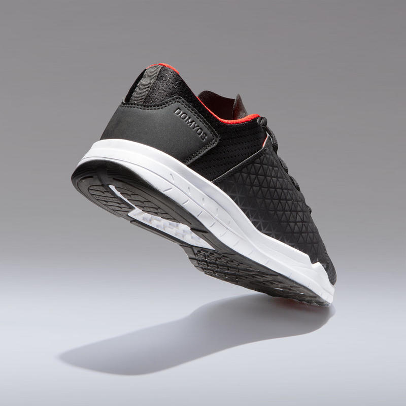 Men's Regular Cardio & Gym Shoe - Black/Red