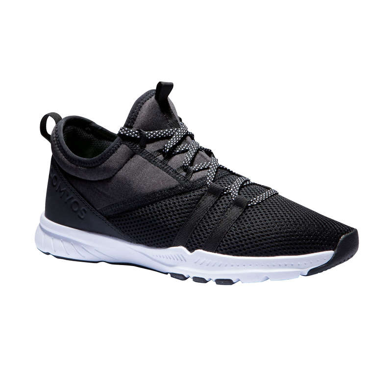 FITNESS SHOES Fitness and Gym - MID 120 Women's Shoes - Black DOMYOS - Gym Activewear