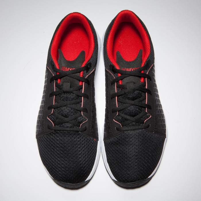 Fitness schoenen cardiotraining 500 voor heren, zwart/rood