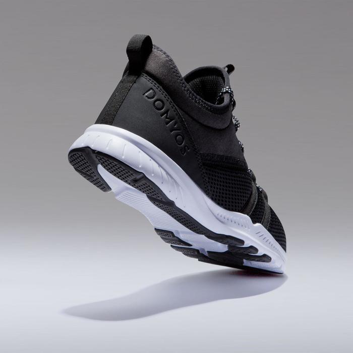 Zapatillas fitness cardio-training 120 mid mujer negro
