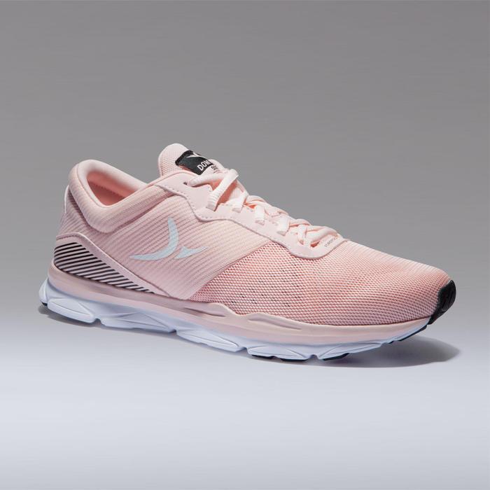 Schoenen voor cardiofitness dames 500 roze